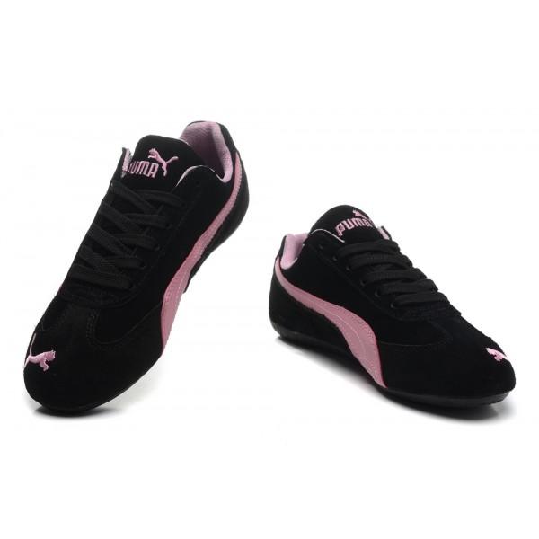 basket puma rose et noir
